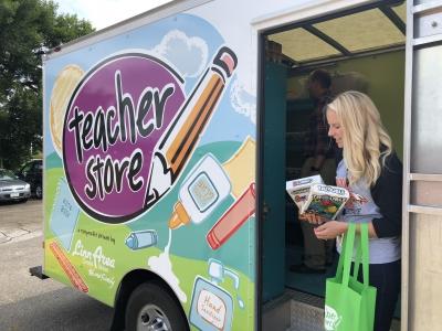 The Teacher Store Visits GWAEA